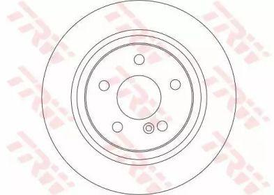 Вентилируемый тормозной диск на MERCEDES-BENZ GLK 'TRW DF4270'.