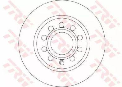 Тормозной диск на VOLKSWAGEN BEETLE 'TRW DF4276'.