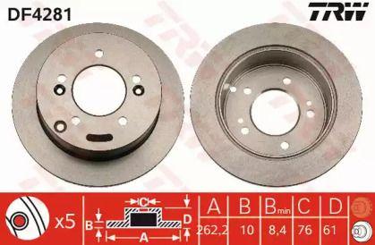 Тормозной диск на Хендай ХГ 'TRW DF4281'.