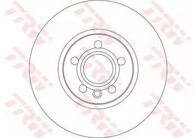 Вентилируемый тормозной диск на Фольксваген Комби 'TRW DF4310S'.