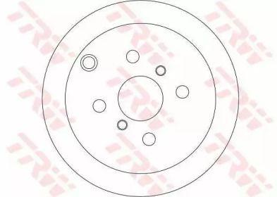 Тормозной диск на TOYOTA MATRIX 'TRW DF4335'.