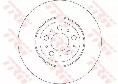 Вентилируемый тормозной диск на Вольво ХС90 'TRW DF4339'.