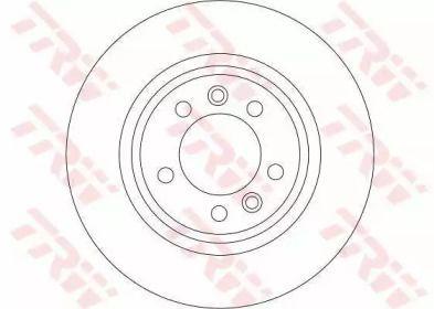 Тормозной диск на Пежо 407 'TRW DF4351'.