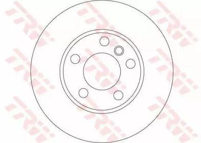Вентильований гальмівний диск TRW DF4390S.