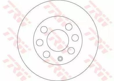 Вентилируемый тормозной диск на Дэу Матиз 'TRW DF4439'.
