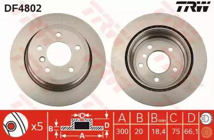 Вентилируемый тормозной диск на БМВ Х1 'TRW DF4802'.