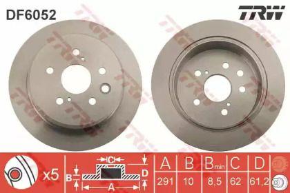 Тормозной диск на Лексус Ис 'TRW DF6052'.