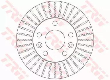 Вентилируемый тормозной диск на RENAULT DUSTER 'TRW DF6200'.