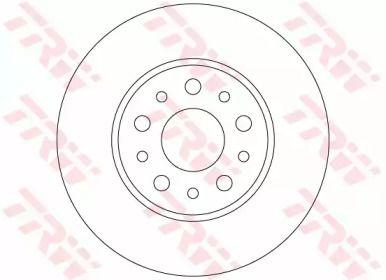 Тормозной диск на FIAT 500L 'TRW DF6228'.
