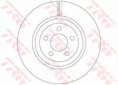 Вентилируемый тормозной диск на CHRYSLER 300C 'TRW DF6244S'.