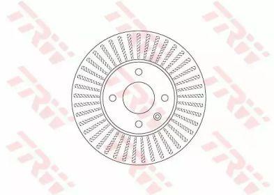 Вентилируемый тормозной диск на Шевроле Кобальт 'TRW DF6254'.