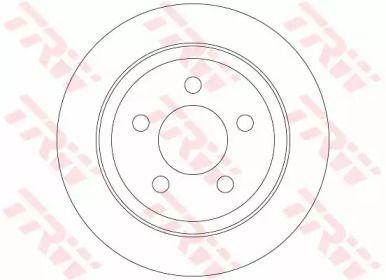 Тормозной диск на Джип Чероки 'TRW DF6386'.