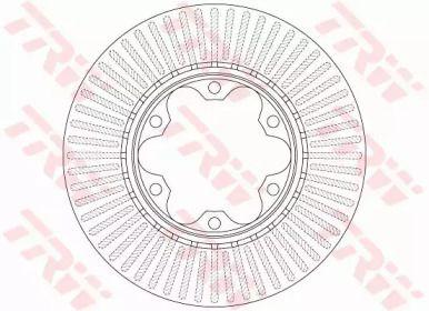 Вентилируемый тормозной диск на TOYOTA HIACE 'TRW DF6481'.