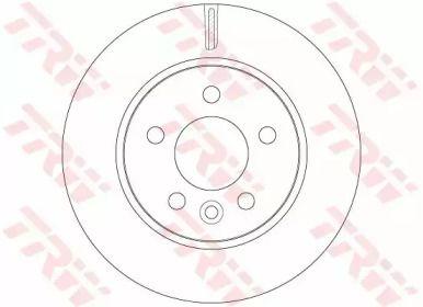 Вентилируемый тормозной диск на Фольксваген Амарок 'TRW DF6482'.