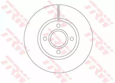 Вентилируемый тормозной диск на FORD B-MAX 'TRW DF6509'.