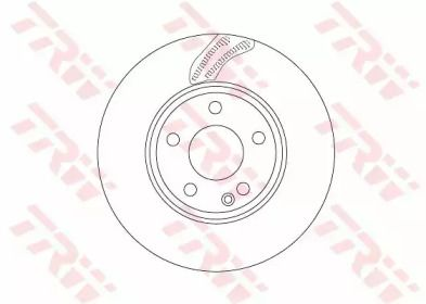 Вентильований гальмівний диск на Mercedes-Benz GLA  TRW DF6591.