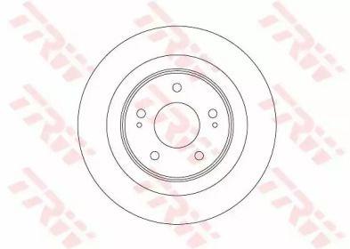 Тормозной диск на Митсубиси АСХ 'TRW DF6598'.