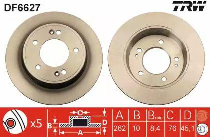 Тормозной диск на Киа Церато Куп 'TRW DF6627'.