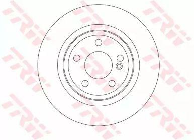 Гальмівний диск на Mercedes-Benz GLA  TRW DF6634.