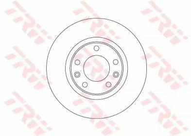 Тормозной диск на Пежо 308 'TRW DF6656'.