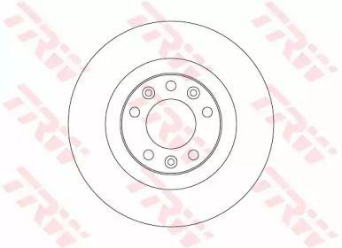 Тормозной диск на Пежо 308 'TRW DF6667'.