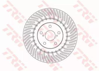 Вентилируемый тормозной диск на LEXUS RC 'TRW DF6692S'.