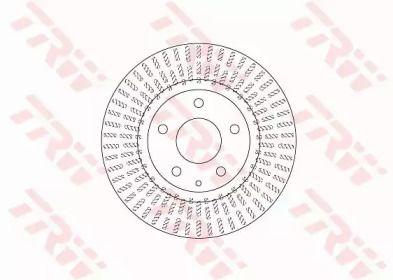 Вентилируемый тормозной диск на MAZDA CX-3 'TRW DF6731'.
