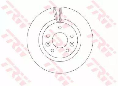 Вентилируемый тормозной диск на RENAULT KADJAR 'TRW DF6786'.