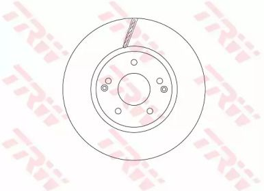Вентилируемый тормозной диск на SSANGYONG ACTYON SPORTS 'TRW DF6804'.