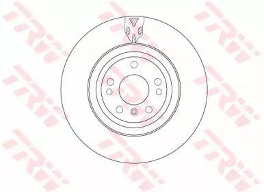 Вентилируемый тормозной диск на Мерседес Гле 'TRW DF6833S'.