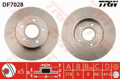 Тормозной диск на Ниссан Максима 'TRW DF7028'.