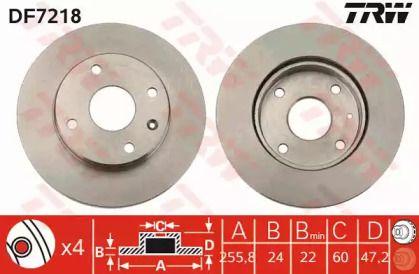 Вентилируемый тормозной диск на CHEVROLET OPTRA 'TRW DF7218'.