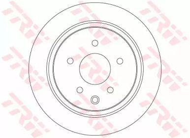 Тормозной диск на NISSAN BLUEBIRD 'TRW DF7369'.