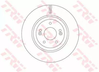 Вентилируемый тормозной диск на Хендай Ай40 'TRW DF7592'.