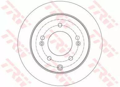 Тормозной диск на Киа Церато Куп 'TRW DF7819'.