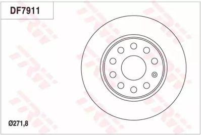 Тормозной диск на AUDI Q2 'TRW DF7911'.