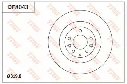 Вентилируемый тормозной диск на MAZDA CX-9 'TRW DF8043'.