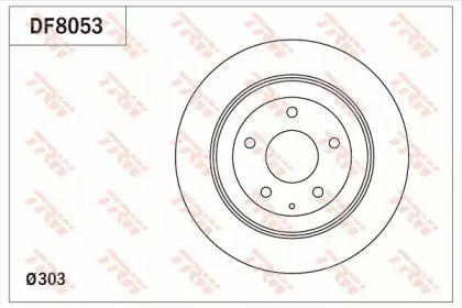 Гальмівний диск на MAZDA CX-5 TRW DF8053.