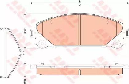 Гальмівні колодки на Лексус НХ 'TRW GDB3484'.
