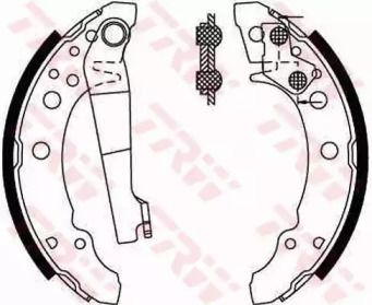 Барабанные тормозные колодки на Фольксваген Джетта TRW GS8166.