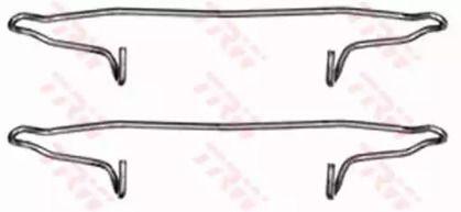 Скобы тормозных колодок на Сеат Леон TRW PFK300.