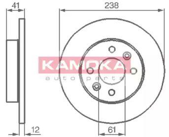 Тормозной диск 'KAMOKA 103110'.