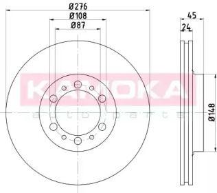 Вентилируемый тормозной диск на Митсубиси Галлопер 'KAMOKA 1031141'.