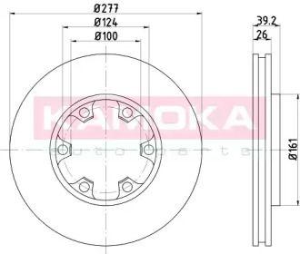 Вентилируемый тормозной диск на Ниссан Террано 'KAMOKA 1031143'.