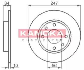 Тормозной диск на Ситроен Виза 'KAMOKA 103118'.