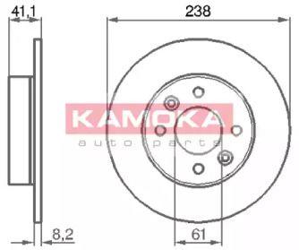 Тормозной диск 'KAMOKA 103140'.
