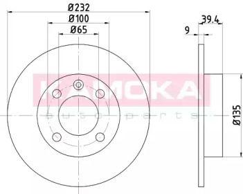 Тормозной диск 'KAMOKA 103146'.