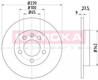 Тормозной диск 'KAMOKA 103147'.