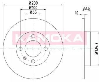 Тормозной диск 'KAMOKA 103156'.