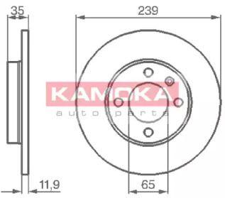 Тормозной диск 'KAMOKA 103206'.